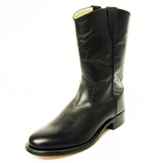 4110 Children's Old West Black Leather Roper