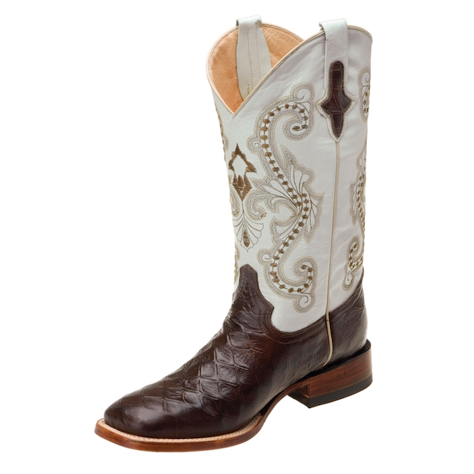 4239309 Men's Ferrini Anteater Print Square Toe Roper Boot
