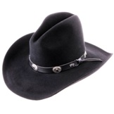 4482 Tombstone Black 2x Felt Cowboy Hat by Bailey