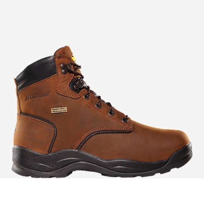 460001 Men's Lacrosse Quad Comfort 4x6 Waterproof Work Boot