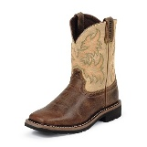 4683JR Children's Justin Stampede Waxy Brown Roper