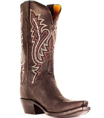 M5002.S54 Women's Lucchese Chocolate Madras Ana Cowboy Boot