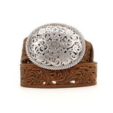 C50029 Women's Tony Lama Brown Filigree Belt