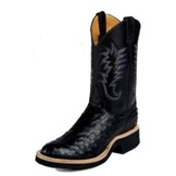 L5003 Women's Justin Black Full Quill Ostrich Cowboy Boot