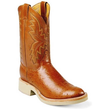 L5006 Women's Justin Tan Smooth Ostrich Cowboy Boot