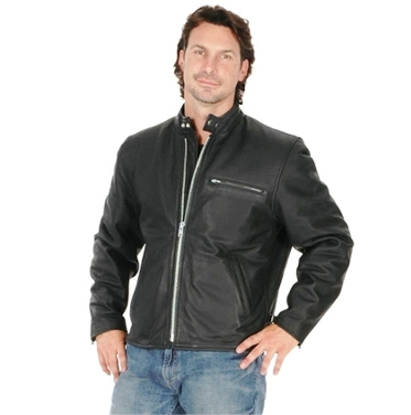 0502.00 Men's Premium Buffalo Leather Motorcycle Jacket
