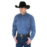 MGS51BL Men's Wrangler George Strait Solid Blue Long Sleeve