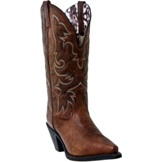 51078 Women's Laredo Vintage Brown Wide Shaft Snip Toe Boot