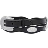 51603 Women's  Silver Creek Black Virginia City Scallop Belt