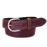 53709 Men's Silver Creek Classic Brown Leather Western Belt
