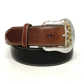 N2475401 Men's Nocona Black and Brown Western Belt