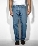 00550-4891 Men's Levi 550 Relaxed Fit Jeans - Medium Stonewash