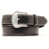 N2475601 Men's Nocona Top Hand Dark Brown Leather Belt