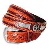 "5637 Men's 3D 1.5"" Natural Brown Tooled Leather Western Belt"
