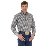 MGS58TM Men's Wrangler George Strait Long Sleeve Plaid Shirt