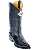 600805 Men's Los Altos Black Eel Cowboy Boot