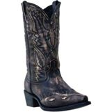 6767 Men's Dan Post Distressed Black Cowboy Boot