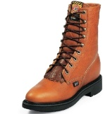 L0762 Women's Justin Copper Caprice Lace-up Roper Boot