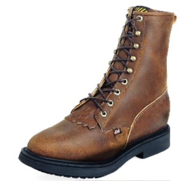 0764 Men's Justin Aged Bark Steel Toe Lacer