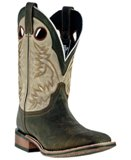 7886 Men's Laredo Chocolate Collared Cowboy Approved Roper Boot