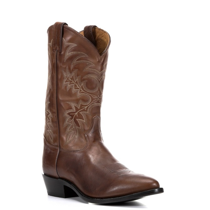 7931L Women's Tony Lama Tan Vintage Cow with Painted Cross Roper