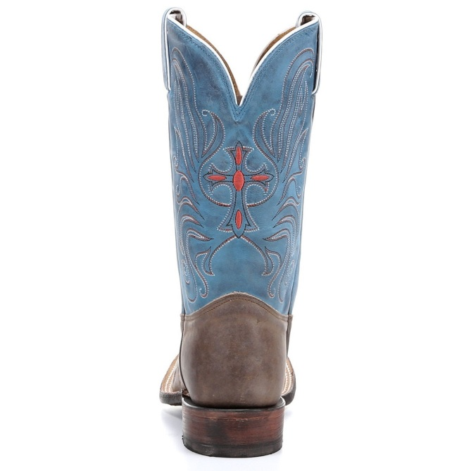 Tony lama tan vintage cow with painted cross roper tony lama women s