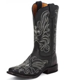 7932L Women's Tony Lama Black Century w/ Painted Cross Boot