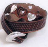 C80034 Women's Silver Creek Cowgirl Heart Show Brown Belt