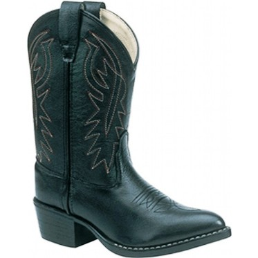 8110 Children's Old West Black Leather Cowboy Boot