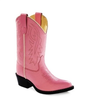 8119 Children's Old West Pink Leather Cowboy Boot