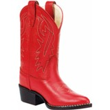 8116 Children's Old West Red Leather Cowboy Boot