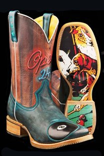 1420007075BU Men's Tin Haul Blue Pool Hall Rack�em Up Roper Boot