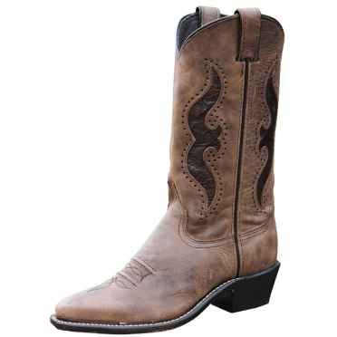 9142 Women's Abilene Brown Snip Toe with Tooled Inlay Boot
