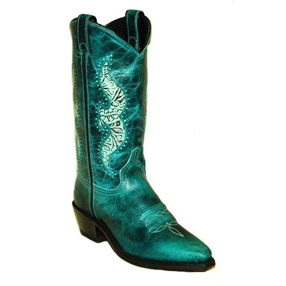 9143 Women's Abilene Turquoise Cowhide w/ Accents Cowboy Boot