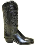 9160 Women's Abilene Black Cowhide Cowboy Boot