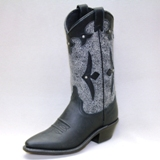"9190 Women's Abilene 11"" Black Textured And Black Cowboy Boot"