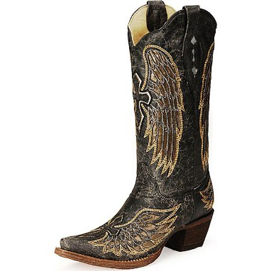 A1967 Women's Corral Wings And Cross Snip Toe Cowboy Boot