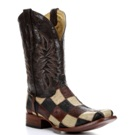 C2314 Men's Corral Smooth Ostrich Patchwork Cowboy Boot