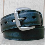 N2454101 Men's Nocona Basic Black Tapered Edge Belt