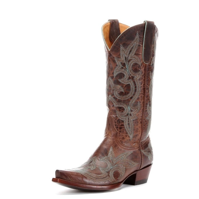 L113-13 Women's Old Gringo Diego Turquoise Snip Toe Cowboy Boot
