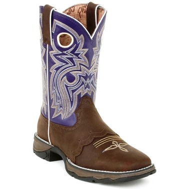 durango flirt square toe boots Durango kids lil flirt dark brown with saddle and purple topfoot: dark brown synthetic leathertop: 8 inch purple synthetic leathertoe: square toeheel: 1 inch rocker heelinsole: cushion flex insoleoutsole: rubber lil' flirt with durango: kid's square toe pull-on western boots - style - durango boot company.