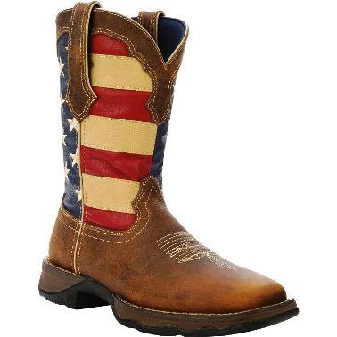 Durango Rebel Square Toe American Flag Cowgirl Boot