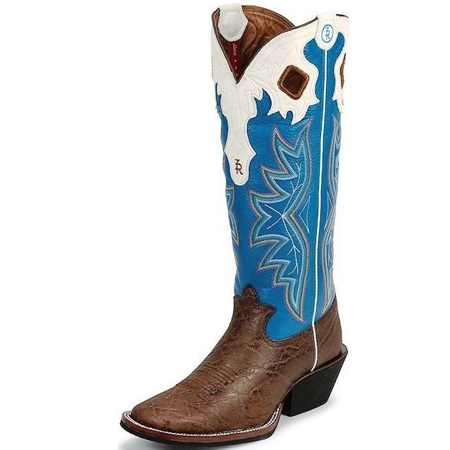 RR1014 Men's Tony Lama 3R Walnut Elephant Grain Cowboy Boot