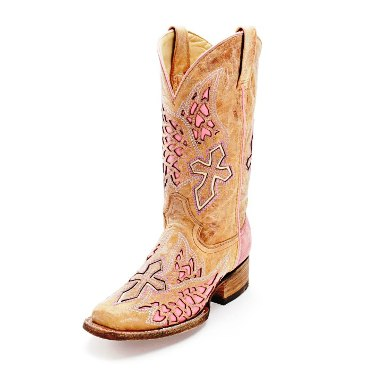 A2645 Women's Corral Rodeo Pink Cross and Wings Cowboy Boot