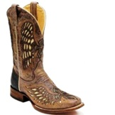 A2649 Men's Corral Tobacco Wing & Cross Roper Cowboy Boot