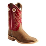BR310 Men's Justin Bent Rail Old Map Cow Roper Cowboy Boot