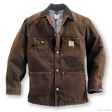 C02TLL Men's Carhartt Sandstone Chore Coat (Blanket-Lined)- Tall