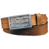 C12685 Men's Justin Flying High Flag Cowboy Belt and Buckle