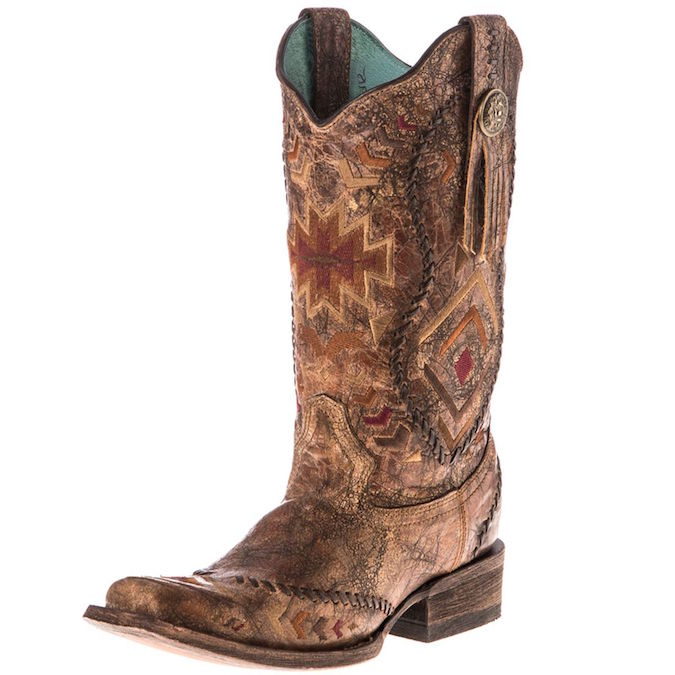 C2915 Women's Corral Square Toe Cowgirl Boot