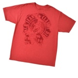 MTT1690095 Men's Cinch Red Logo Crest T-Shirt